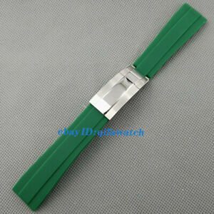 20mm Black white green blue Rubber strap sterile bracelet fit 40mm watch