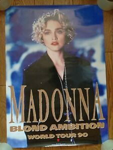 MADONNA JAPAN Blond Ambition 90 Tour Warner Pioneer Corp. Official Promo Poster