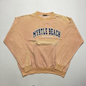 Vintage Pacific & Co Myrtle Beach Sweatshirt Crew South Carolina Jumper Size XL