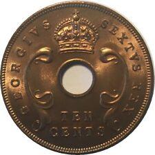BRITISH EAST AFRICA 1952 10 & 5 CENTS, BU