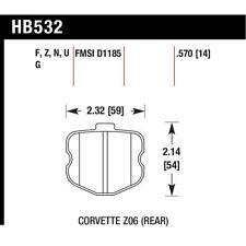 Hawk HB532Z.570 Performance Ceramic Rear Disc Brake Pad Fits 06-13 Corvette Z06