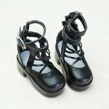 "1/4 Black Flats Shoes Pantshoes For 17"" Girl BJD Doll MSD MK  Synthetic Leather"