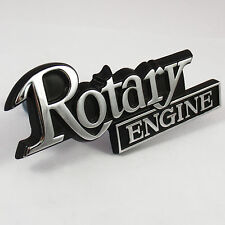 ROTARY ENGINE metal Grille Badge chrome, New, for Mazda RX2 RX3 RX4 R100 RX5 RX7