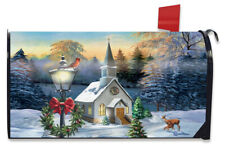 Come All Ye Faithful Winter Magnetic Mailbox Cover Church Cardinal Standard