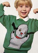 "Ck20 - Knitting Pattern - Sooty - Sweep DK Children's & Adults Jumper - 22-40"""