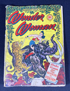 Wonder Woman Comics No. 9 Summer Issue 1944 Golden Age Comic Book
