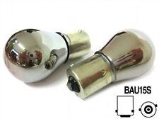 COPPIA Lampada Lampadina Luce S25 (BAU15S) PY21W 12V ARANCIONI CROMATE