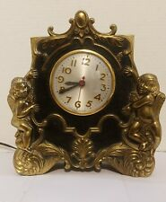 Vintage Sessions Model W Gold Tone Nude Angel Mantle Clock