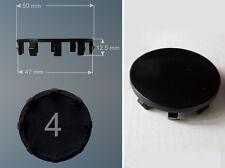 set 4 Borchie coprimozzo adattabili Ø 50 mm innesto 47 x cerchi lega