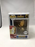 Marvel Avengers Infinity War Gold Chrome Iron Man Exclusive Vinyl Funko Pop