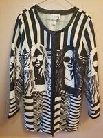 Joseph Ribkoff Womens US 14 Jacket Black And White Striped Graphic design 163874