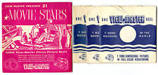 1954 21 MOVIE STARS ViewMaster SAWYER'S 3 Reel Pack MPX 740 741 742
