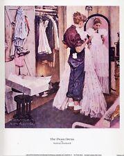 Norman Rockwell Saturday Evening Post Print PROM DRESS