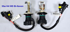 35W H4 8000K High Low Beam HID Bi-Xenon H4-3 Hi-Lo Replacement Bulbs Blue Lights