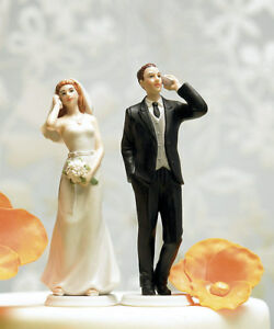 Cell Phone Fanatic Funny Couple Wedding Cake Topper