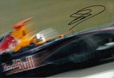 David Coulthard mano firmato RED BULL RACING FOTO 12X8 1.