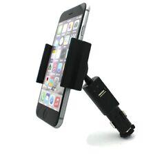 Car Mount Charger Plug Holder with USB Port Dock Cradle for Smartphones