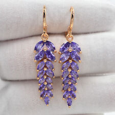 18K Gold Filled Royal Purple Marquise Mystic Topaz Engagement Earrings for Women