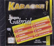 Juan Gabriel Karaoke CD+Grafics Incluye Cancionero Vol 1 New Nuevo Sealed