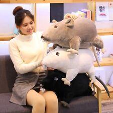 New listing Kawaii Plush Stuffed Mouse Rat Animal Pillow Toy Soft White Black KidsDoll Gift