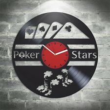 Vintage Vinyl Clock PokerStars Wall Art Best Gift For Gamer Moder Art Home Decor