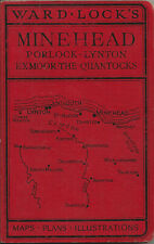 WARD LOCK RED GUIDE - MINEHEAD & NORTH SOMERSET - c.1950 - 15th edition