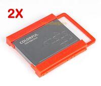 "New 2PCS 2.5"" to 3.5"" Bay SSD HDD Hard Disk Drive Mounting Adapter Rail Bracket"