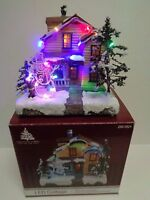 LED Light Up Christmas Holiday Village Cottage Classic Decor Snow
