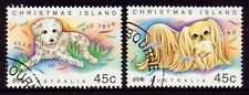 1994 Christmas Island Lunar New Year of the Dog Pair, Cancelled to Order CTO