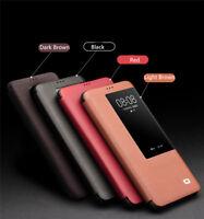 QIALINO Echt Leder Smart View Schutzhülle Flip Case Cover Für Huawei Mate 20 Pro