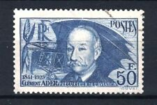 """FRANCE STAMP TIMBRE YVERT 398 """" CLEMENT ADER 50F OUTREMER """" OBLITERE TTB  R851"""