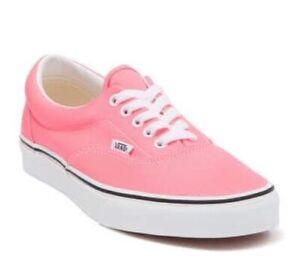 VANS Neon Pink Authentic Skate Shoes Women's Size 6.5