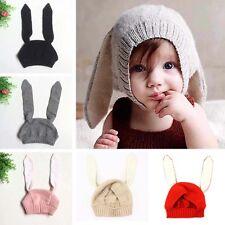 Toddler Kids Girls Boys Crochet Earflap Beanie Hat Newborn Baby Warm Soft Cap