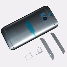 Gray For HTC One M8 Battery Back Door + SIM SD Card Holder + Top Bottom Cover