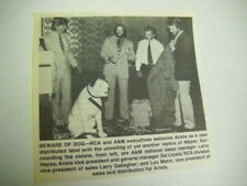 NIPPER The RCA Dog ...Beware Of Dog 1985 music biz promo pic with text
