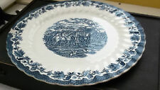 VERY LARGE BLUE AND WHITE CHARGER / PLATE  BY MYOTT COUNTRY LIFE SERIES