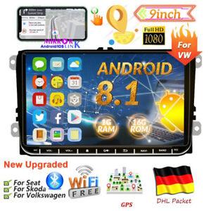 "9"" Autoradio Android 8.1 BT GPS Navi Für VW GOLF 5 Passat Touran Polo EOS Skoda"
