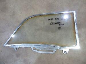 1959 Ford Galaxie Fairlane 2 door hardtop QUARTER glass trim molding frame DR