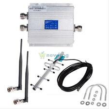 LCD CDMA 850MHz Cell Phone Signal Repeater Booster Amplifier + Yagi Antenna Kits