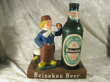 Vintage Chalkware Heineken Beer Bottle Dutch Boy Bar Display