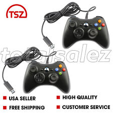 2 For Xbox 360 Black USB PC Windows Video Game Pad Controller Remote PC Windows