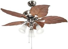 52 Inch Ceiling Fan With 3-light Kit Light Fixture Chandelier Kitchen Ceiling