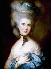 Dipinto ritratto studio Gainsborough Donna in blu Poster Art Print bb12560a