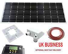 100W Solar Panel kit 12V battery Charge Controller Caravan Boat Home Camp RV