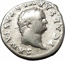 TITUS Ancient Silver Roman Coin Ceres Agriculture Grain crops Fertility  i53363