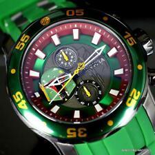 Invicta Star Wars Boba Fett Pro Diver Scuba Green 48mm Chronograph Watch New