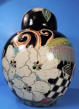 large HAND PAINTED TOYO POTTERY GINGER JAR (CHINA) CONTEMPORARY DESIGN