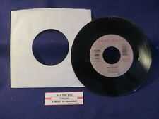FOREIGNER A Night To Remember/Say You Will 45 Record ATLANTIC RECORDS