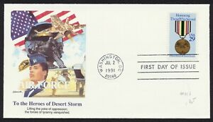 #2551 29c Desert Storm & Shield, Fleetwood-Air Force FDC **ANY 5=FREE SHIPPING**