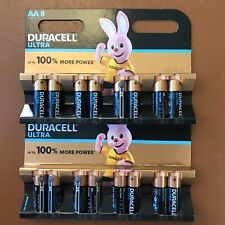 8 x Duracell AA Ultra Power Alkaline Batteries Duralock LR6 MX1500 MN1500 MIGNON